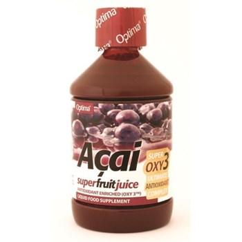 Picture of OPTIMA ACAI SUPER FRUIT JUICE with Oxy3 ΕΝΙΣΧΥΜΕΝΟΣ ΧΥΜΟΣ ΜΟΥΡΩΝ ACAI OPTIMA 500ml