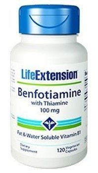 Picture of Life Extension, Benfotiamine With Thiamine 100mg 120caps