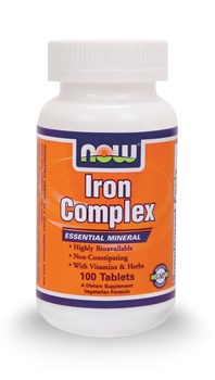 Picture of NOW IRON COMPLEX 100 tabs