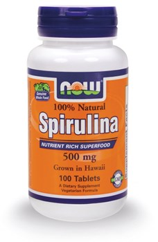 Picture of NOW SPIRULINA 500 mg 100 tabs