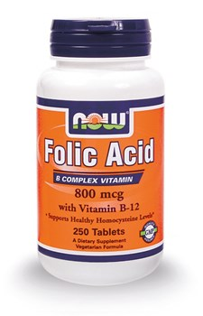 Picture of NOW FOLIC ACID 800 mg 250 TABS