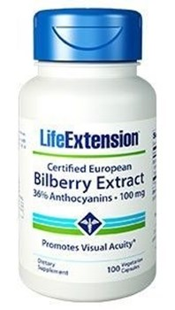 Picture of Life Extension Bilberry Extract 36% Anthocyanis 100MG, 90 VEG. CAPS