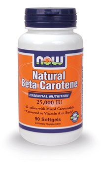Picture of NOW NATURAL ΒΕΤΑ CAROTENE 90 Softgels