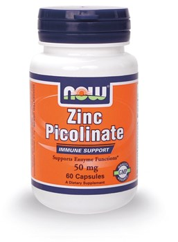 Picture of NOW ZINC PICOLINATE 50mg, 60caps