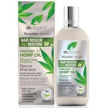 Picture of DR.ORGANIC Organic Hemp Oil Rescue Shampoo 265ml Σαμπουάν για την Τριχόπτωση με Έλαιο Κάνναβης