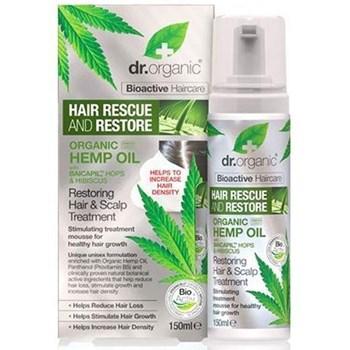 Picture of DR.ORGANIC Organic Hemp Oil Restoring Hair & Scalp Treatment 150ml Μους Μαλλιών για την Τριχόπτωση με Έλαιο Κάνναβης