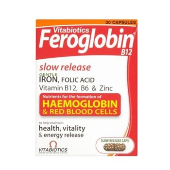Picture of Vitabiotics Feroglobin Slow Release 30 caps