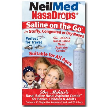 Picture of NEILMED NasaDrops Saline On the Go 15 x 15ml