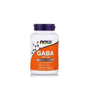 Picture of NOW GABA 500Mg + Β6-2Mg 100Caps.
