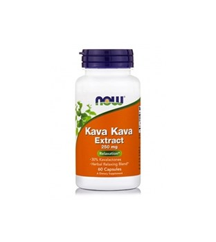 Picture of NOW Kava Kava 250 mg Veg 60 Capsules