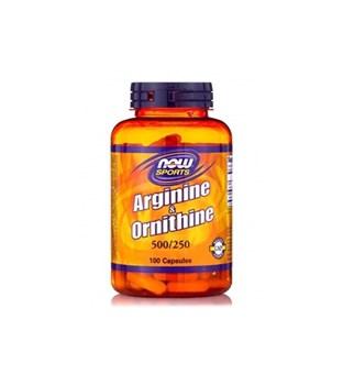 Picture of NOW L-Arginine & Ornithine 500/250 mg 100 Capsules