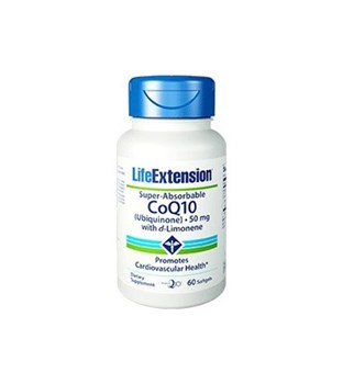 Picture of Life Extension SUPER-ABSORBABLE CoQ10 Ubiquinone with d-Limonene  50mg 60soft