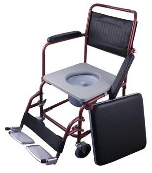 Picture of MOBIAK, 0810120 Αναπηρικό Αμαξίδιο Απλού Τύπου Κόκκινο με Δοχείο