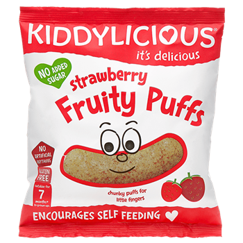 Picture of KIDDYLICIOUS Strawberry Fruity Puffs 12gr