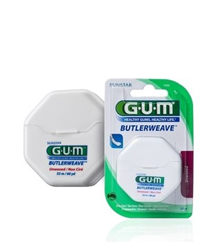 Picture of GUM 1055 Butlerweave Floss Unwaxed Οδοντικό νήμα 55m