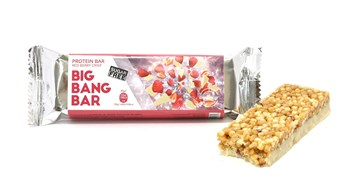 Picture of TOSNACK Big Bang Bar Red Berry Crisp Bar 40gr