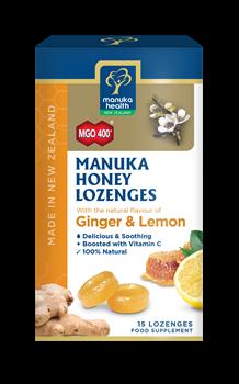 Picture of MANUKA HEALTH Φυσικές Καραμέλες με Τζίντζερ & Μέλι Manuka MGO400 65gr