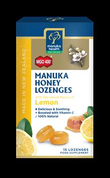 Picture of MANUKA HEALTH Φυσικές Καραμέλες με Μέλι Manuka MGO400 με φυσικό άρωμα Λεμονιού 65gr
