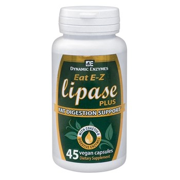 Picture of DYNAMIC ENZYMES Eat E-Z Lipase Plus 45Veg.Caps