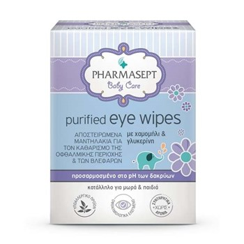 Picture of PHARMASEPT Baby Care Purified Eye Wipes 10τμχ