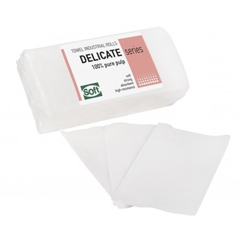 Picture of ΧΕΙΡΟΠΕΤΣΕΤΑ Χειροπετσέτα Ζιζ - Ζακ Λευκή (20 πακέτα με 200 τεμάχια στο πακέτο)