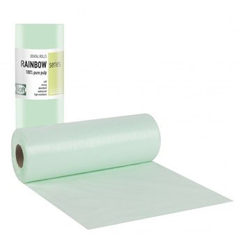 Picture of ΟΔΟΝΤΙΑΤΡΙΚΟ Ρολό 1ply χαρτί + 1ply πλαστικό 29cm x 50m Πρασινο