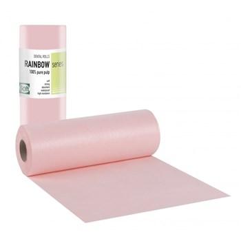 Picture of ΟΔΟΝΤΙΑΤΡΙΚΟ Ρολό 1ply χαρτί + 1ply πλαστικό 29cm x 50m Ροζ