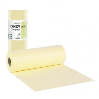 Picture of ΟΔΟΝΤΙΑΤΡΙΚΟ Ρολό 1ply χαρτί + 1ply πλαστικό 29cm x 50m Κίτρινο