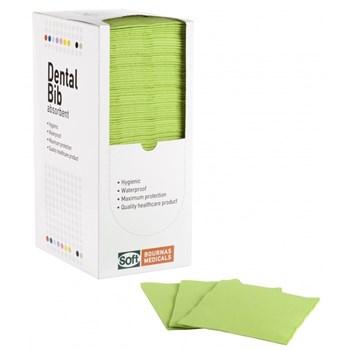 Picture of ΟΔΟΝΤΙΑΤΡΙΚΗ Πετσέτα 1ply χαρτί + 1ply πλαστικό Με κουτάκι (Dispenser) 125τεμαχιων Λαχανί