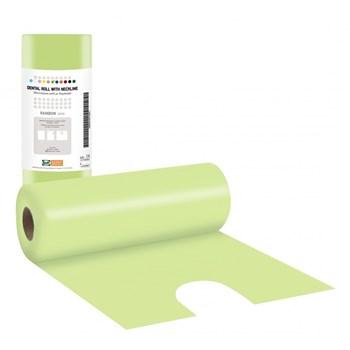 Picture of ΟΔΟΝΤΙΑΤΡΙΚΕΣ πετσέτες 1ply χαρτί + 1ply πλαστικό σε ρολό με λαιμόκοψη (80 τμχ.) 53cm x  60cm