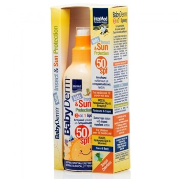 Picture of INTERMED Babyderm kids Insect & Sun Protection SPF50 200ml