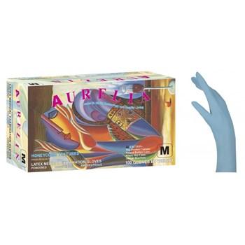 Picture of AURELIA Γάντια Μπλε με Πούδρα 100τεμ 10 κουτιά/κούτα