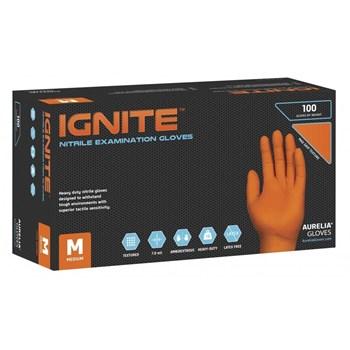 Picture of AURELIA Ignite Γάντια Πορτοκαλί 100τεμ 10 κουτιά/κούτα