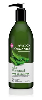 Picture of AVALON ORGANICS Aloe Unscented Hand & Body Lotion 340gr