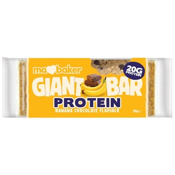 Picture of MA BAKER Giant Protein Bar Banana Chocolate Flapjack 90gr