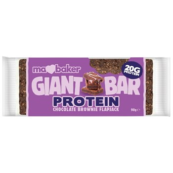 Picture of MA BAKER Giant Protein Bar Chocolate Brownie Flapjack 90gr