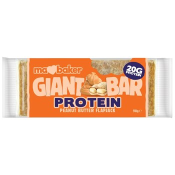 Picture of MA BAKER Giant Protein Bar Peanut Butter Flapjack 90gr