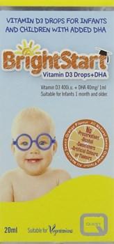 Picture of QUEST Bright Start Vitamin D3 Drops + DHA 20ml + 10ml δώρο