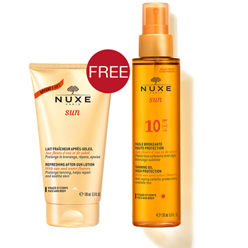 Picture of NUXE Sun Tanning Oil Low Protection SPF10 150ml + Δώρο NUXE Sun Refreshing After-Sun Lotion 100ml