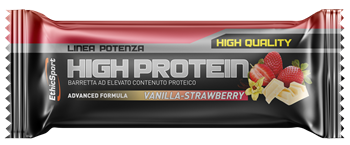 Picture of ETHICSPORT High Protein Bar Vanilla - Strawberry 55gr