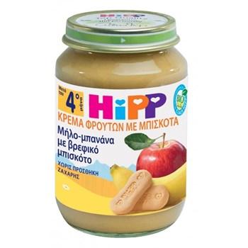 Picture of HIPP Κρέμα Φρούτων Μήλο-Μπανάνα με Βρεφικό Μπισκότο 190gr