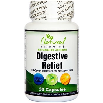 Picture of NATURAL VITAMINS Digestive Relief 30caps