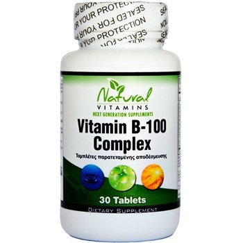 Picture of NATURAL VITAMINS Βιταμίνη Β – 100 Complex 30tabs