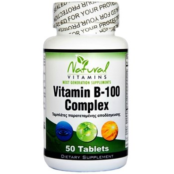 Picture of NATURAL VITAMINS Βιταμίνη Β – 100 Complex 50tabs