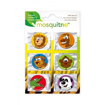 Picture of MOSQUITNO Fun Animal Designs Citronella Stickers 6τμχ