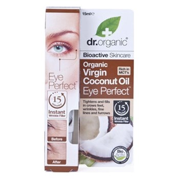 Picture of Dr. Organic Organic Virgin Coconut Oil Eye Perfect 15ml Αντιρυτιδικός Ορός Ματιών 'Ελαιο Καρύδας