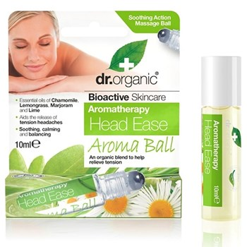 Picture of Dr. Organic Head Ease Aroma Ball 10ml Ίαμα για πιο Καθαρό Μυαλό, με συνδυασμό Αιθέριων Ελαίων