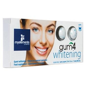Picture of MyElements Gum 4 Whitening 10 gums Λειτουργική τσίχλα με Υπεροξέιδιο & Οξείδιο του Μαγνησίου & Προβιοτικά για Λευκά Δόντια, με γεύση μέντας
