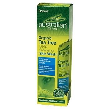 Picture of Optima Australian Organic Tea Tree Deep Cleansing Skin Wash 250ml