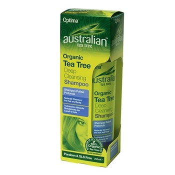 Picture of OPTIMA Australian Organic Tea Tree Deep Cleansing Shampoo 250ml
